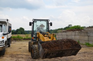 a yard on the skid loader