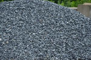 Black Granite Decorative Rock